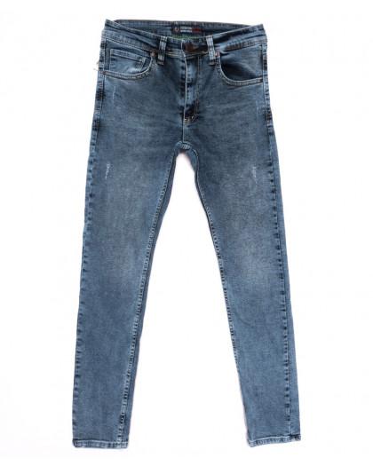 6879 Fashion red джинсы мужские с царапками синие весенние стрейчевые (29-36, 8 ед.) Fashion Red