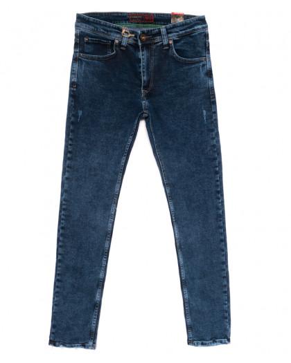 6819 Corcix джинсы мужские с царапками синие весенние стрейчевые (29-36, 8 ед.) Corcix