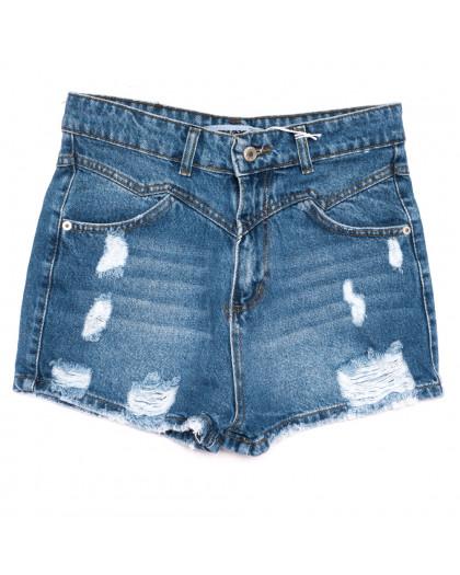 3355 Xray шорты джинсовые женские с рванкой синие коттоновые (34-42, 5 ед.) XRAY