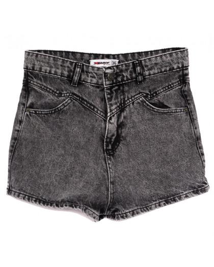 3358 Xray шорты джинсовые женские серые коттоновые (34-40,евро, 5 ед.) XRAY