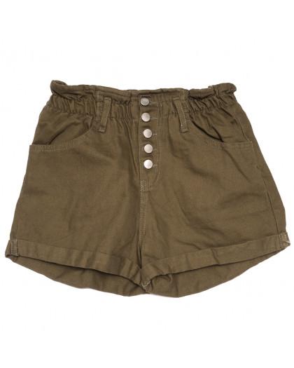 11547 хаки Defile шорты джинсовые женские коттоновые (34-40,евро, 6 ед.) XRAY