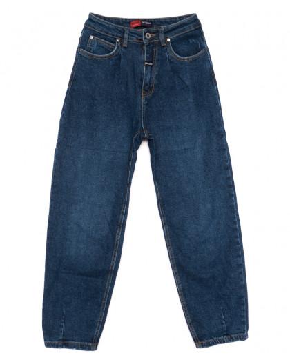 0080-2 М Relucky джинсы-баллон синие осенние стрейчевые (25-30, 6 ед.) Relucky