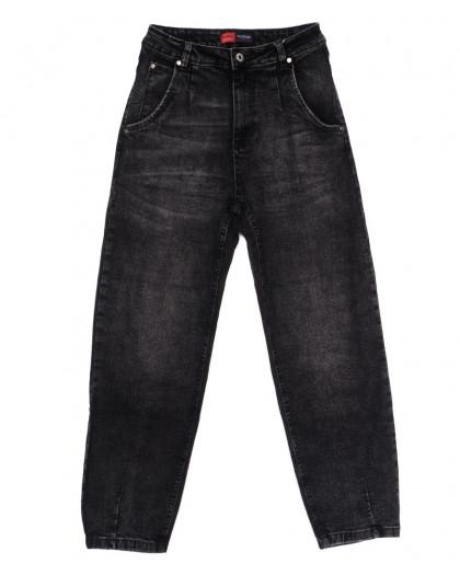 0052-3 М Relucky джинсы-баллон серые осенние стрейчевые (25-30, 6 ед.) Relucky