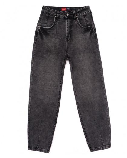 0085-2 М Relucky джинсы-баллон серые осенние стрейчевые (25-30, 6 ед.) Relucky