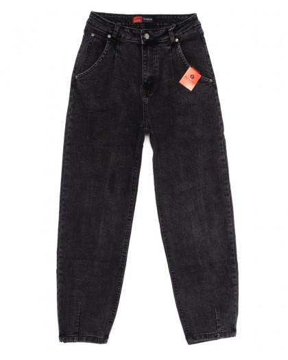 0084-2 М Relucky джинсы-баллон серые осенние стрейчевые (25-30, 6 ед.) Relucky