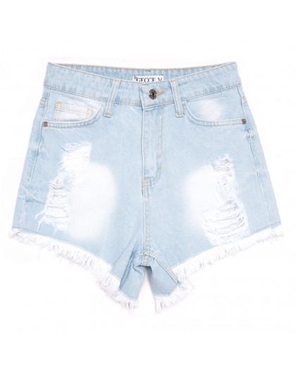 5875 Gecce шорты джинсовые женские с рванкой синие коттоновые (34-40,евро, 6 ед.) Gecce
