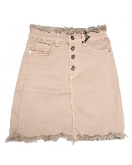 0537 Redmoon юбка джинсовая бежевая весенняя стрейчевая (25-30, 6 ед.) REDMOON