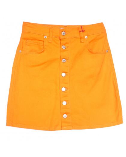 3455 Xray юбка джинсовая на пуговицах оранжевая весенняя коттоновая (34-40,евро, 6 ед.) XRAY