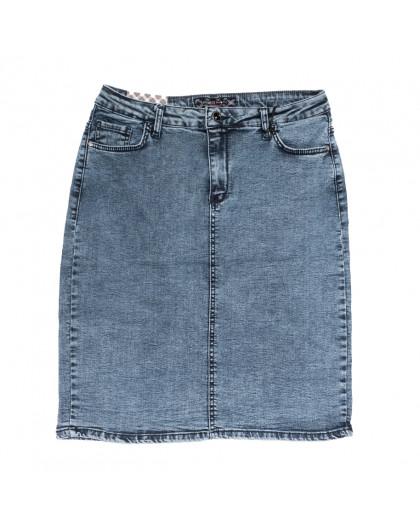 0574 Redmoon юбка джинсовая батальная синяя стрейчевая (30-36, 6 ед.) REDMOON
