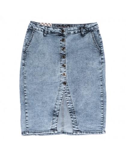 0590 Redmoon юбка джинсовая полубатальная синяя стрейчевая (28-33, 6 ед.) REDMOON