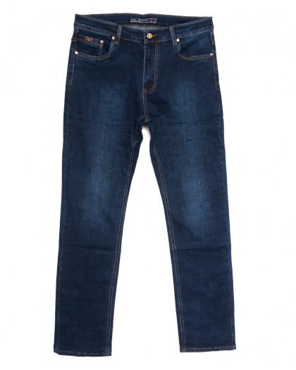 66020 Pr.Minos джинсы мужские полубатальные синие осенние стрейчевые (32-38, 8 ед.) Pr.Minos