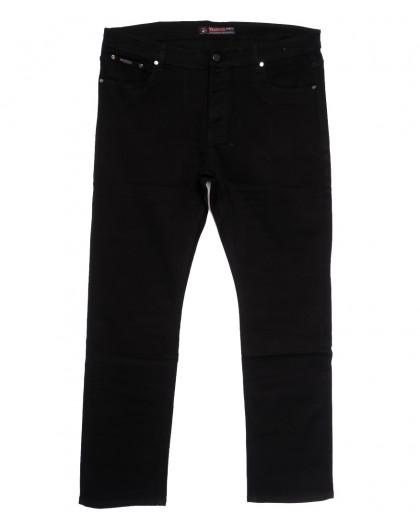 66042 Pr.Minos джинсы мужские полубатальные черные осенние стрейчевые (32-42, 8 ед.) Pr.Minos