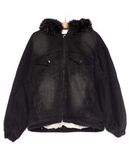 9553 Saint Wish куртка джинсовая женская с царапками темно-серая осенняя коттоновая (S-2XL, 5 ед.) Saint Wish