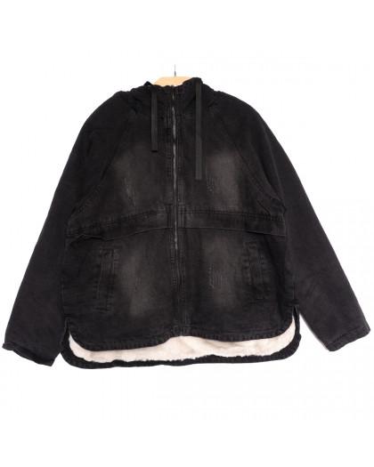 9555 Saint Wish куртка джинсовая женская с царапками темно-серая осенняя коттоновая (M-3XL, 5 ед.) Saint Wish