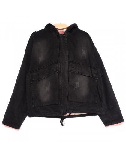 9550 Saint Wish куртка джинсовая женская с царапками темно-серая осенняя коттоновая (S-2XL, 5 ед.) Saint Wish