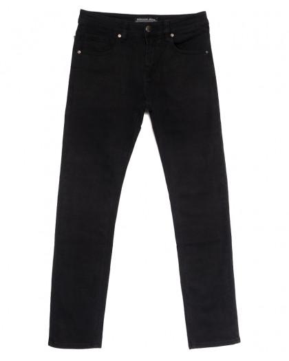 01077 (010-77) Reigouse джинсы мужские черные осенние стрейчевые (30-38, 8 ед.) REIGOUSE