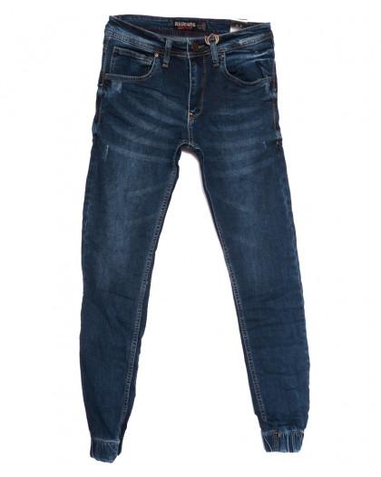 6211 Redcode джинсы мужские на резинке с царапками синие осенние стрейчевые (29-36, 8 ед.) Redcode