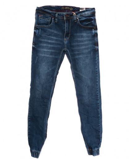 6212 Destry джинсы мужские на резинке с царапками синие осенние стрейчевые (29-36, 8 ед.) Destry