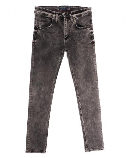 6466 Destry джинсы мужские с царапками серые осенние стрейчевые (29-36, 8 ед.) Destry
