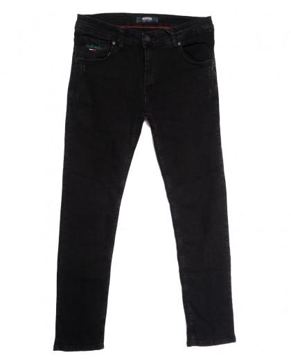 7164 Destry джинсы мужские с царапками темно-серые осенние стрейчевые (29-36, 8 ед.) Destry