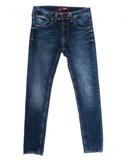 6973 Fashion Red джинсы мужские с царапками синие осенние стрейчевые (29-36, 8 ед.) Fashion Red