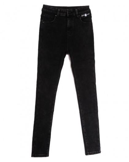 0584 New Jeans джинсы женские на флисе черные зимние стрейчевые (25-30, 6 ед.) New Jeans