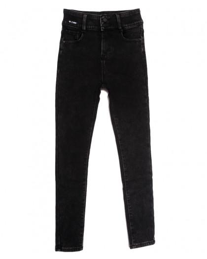 0585 New Jeans джинсы женские на флисе черные зимние стрейчевые (25-30, 6 ед.) New Jeans