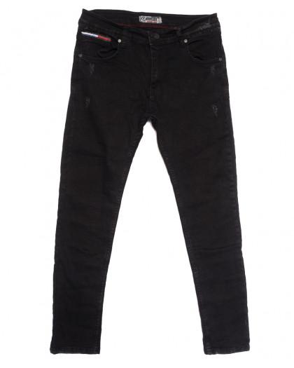7148 Redcode джинсы мужские полубатальные с царапками темно-серые осенние стрейчевые (32-40, 8 ед.) Redcode