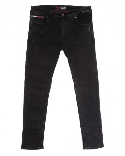 7176 Redcode джинсы мужские полубатальные с царапками серые осенние стрейчевые (32-40, 8 ед.) Redcode