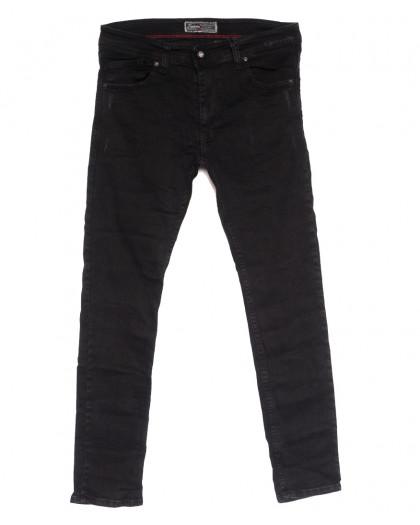7179 Fashion Red джинсы мужские полубатальные с царапками темно-серые осенние стрейчевые (32-40, 8 ед.) Fashion Red