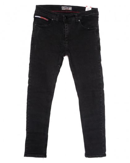 7198 Redcode джинсы мужские с царапками темно-серые осенние стрейчевые (29-36, 8 ед.) Redcode