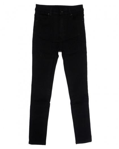 0574 New Jeans американка полубатальная на флисе черная зимняя стрейчевая (28-33, 6 ед.) New Jeans