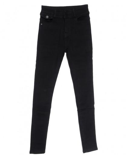 0573 New Jeans американка на флисе черная зимняя стрейчевая (25-30, 6 ед.) New Jeans