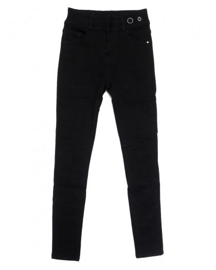 0572 New Jeans американка на флисе черная зимняя стрейчевая (25-30, 6 ед.) New Jeans
