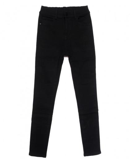 0571 New Jeans американка на флисе черная зимняя стрейчевая (25-30, 6 ед.) New Jeans