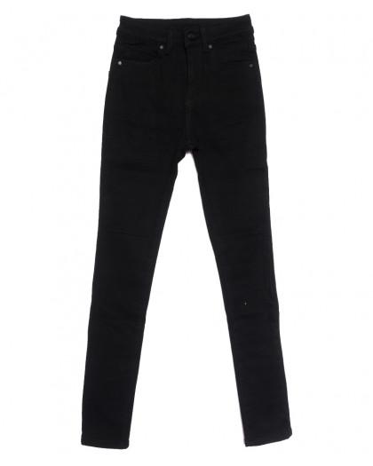 0581 New Jeans американка на флисе черная зимняя стрейчевая (25-30, 6 ед.) New Jeans