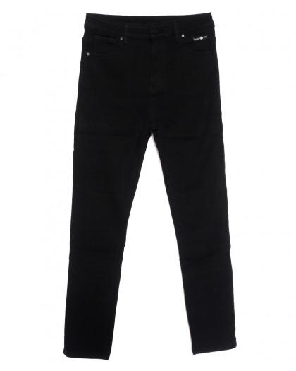 0568 New Jeans американка батальная на флисе черная зимняя стрейчевая (31-36, 6 ед.) New Jeans