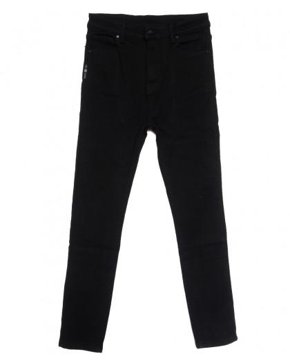 0575 New Jeans американка батальная на флисе черная зимняя стрейчевая (31-36, 6 ед.) New Jeans