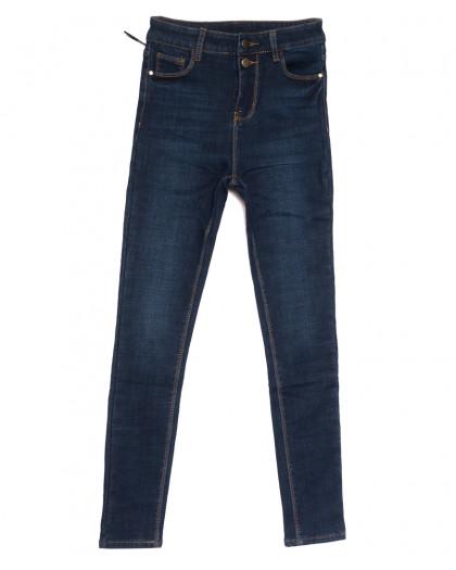 0611 New Jeans американка на флисе синяя зимняя стрейчевая (25-30, 6 ед.) New Jeans