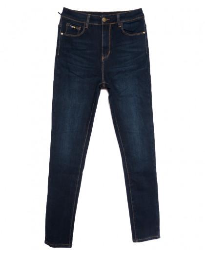 0592 New Jeans американка полубатальная на флисе синяя зимняя стрейчевая (28-33, 6 ед.) New Jeans