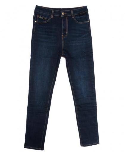 0596 New Jeans американка батальная на флисе синяя зимняя стрейчевая (31-36, 6 ед.) New Jeans