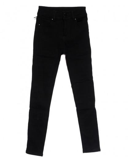 0560 New Jeans американка на флисе черная зимняя стрейчевая (25-30, 6 ед.) New Jeans