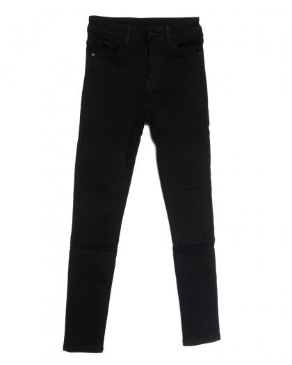 0559 New Jeans американка на флисе черная зимняя стрейчевая (25-30, 6 ед.) New Jeans