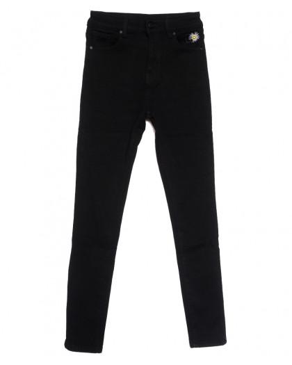 0583 New Jeans американка на флисе черная зимняя стрейчевая (25-30, 6 ед.) New Jeans