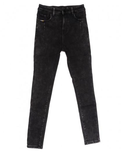 0579 New Jeans американка на флисе серая зимняя стрейчевая (25-30, 6 ед.) New Jeans