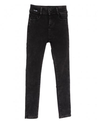 0585 New Jeans американка на флисе темно-серая зимняя стрейчевая (25-30, 6 ед.) New Jeans