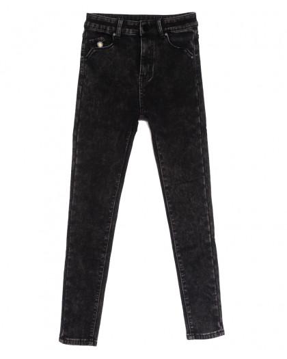 0578 New Jeans американка на флисе темно-серая зимняя стрейчевая (25-30, 6 ед.) New Jeans