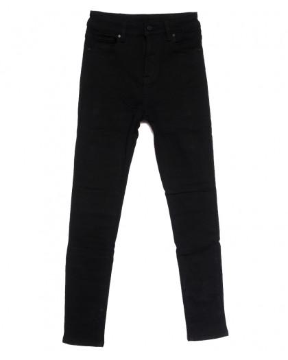 0562 New Jeans американка на флисе черная зимняя стрейчевая (25-30, 6 ед.) New Jeans