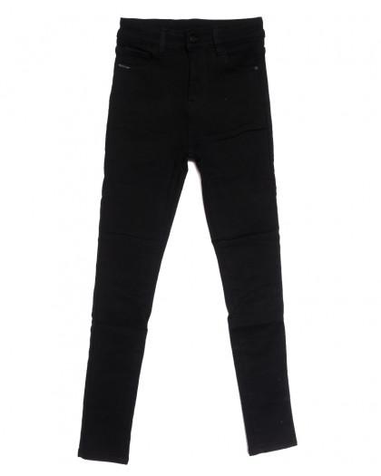 0563 New Jeans американка на флисе черная зимняя стрейчевая (25-30, 6 ед.) New Jeans