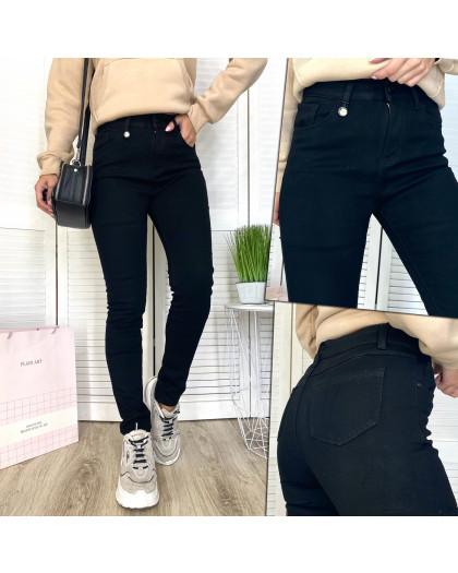 0561 New Jeans американка на флисе черная зимняя стрейчевая (25-30, 6 ед.) New Jeans